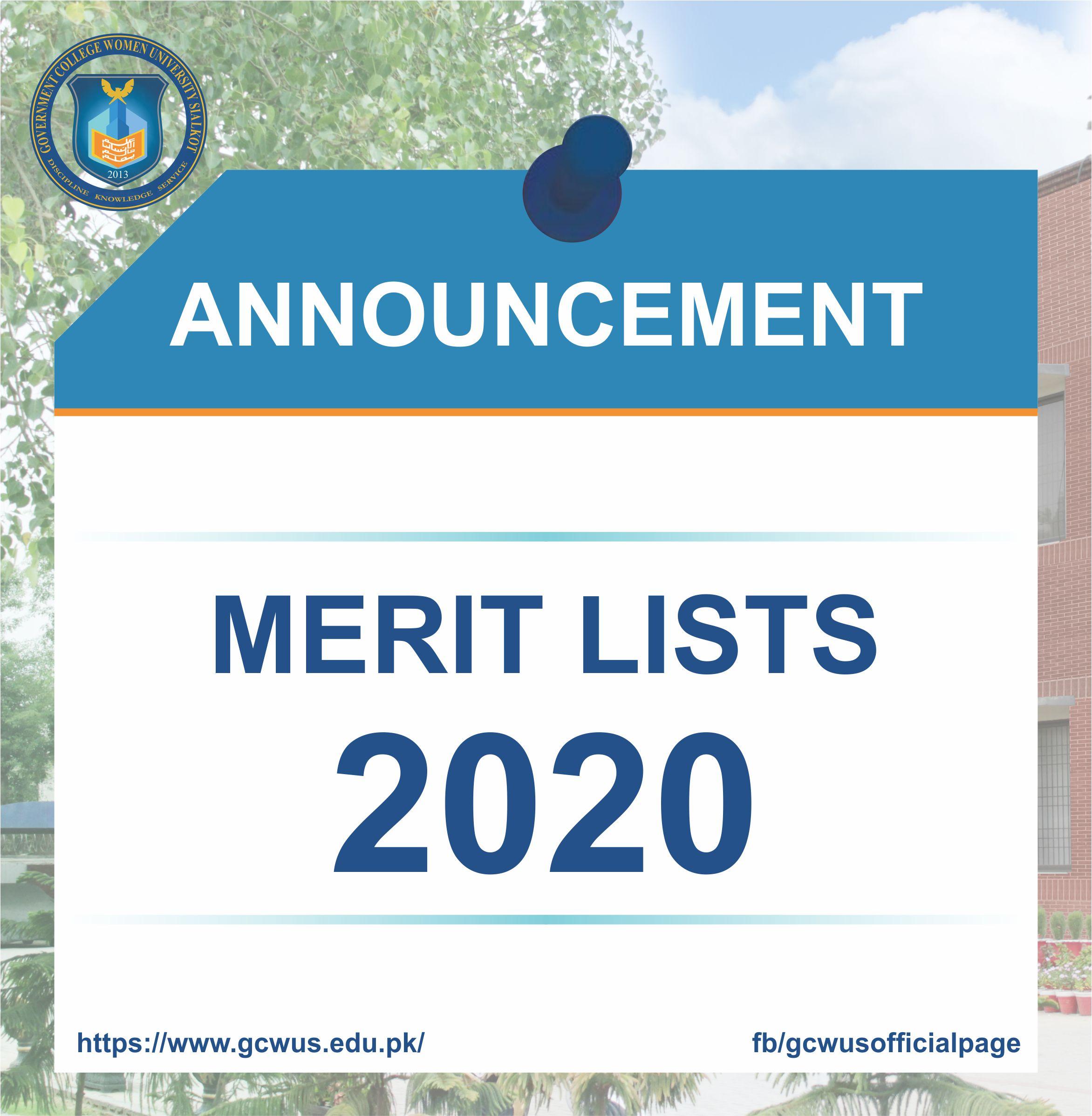 merit list 2020